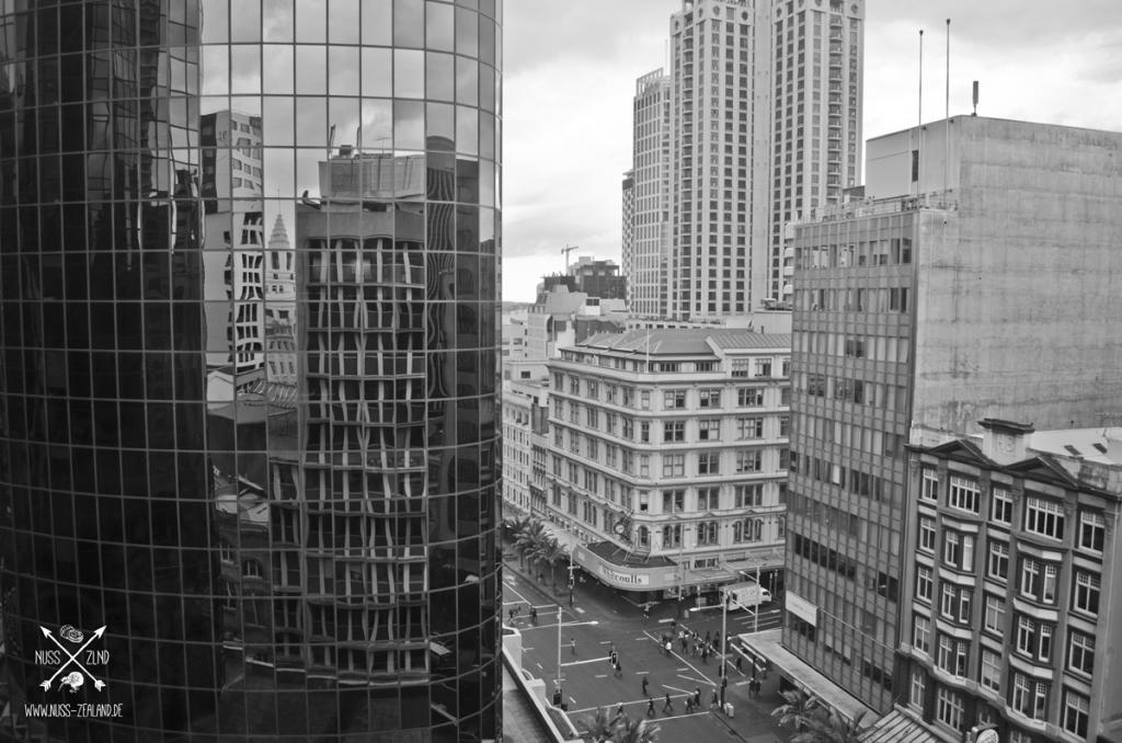 Fensterausblick Hostel, Auckland